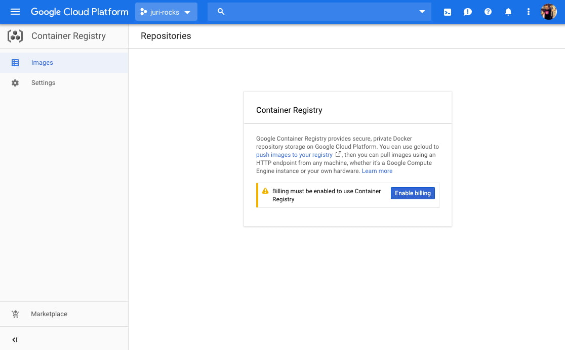 Publish a Docker container from Bitbucket to Google Cloud