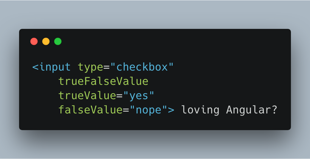 Create a ng-true-value & ng-false-value directive for Angular | juri dev